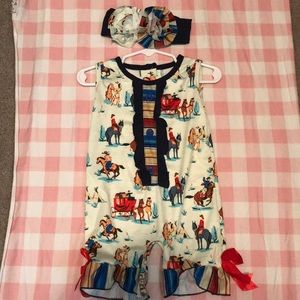Other - Cowgirl Romper with bow